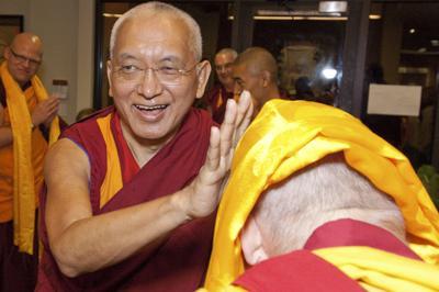 Lama Zopa Rinpoche at Maitripa College, Portland, 2010. Photo: Marc Sakamoto.