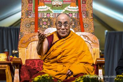 His Holiness the Dalai Lama teaching at Kurukulla Center, Massachusetts, USA, 2012.