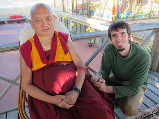Lama Zopa Rinpoche and Tenzin Ösel Hita, 2012.
