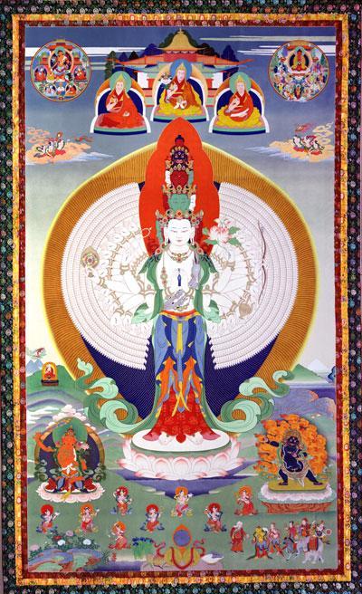 Chenrezig (Skt: Avalokiteshvara), the buddha of compassion
