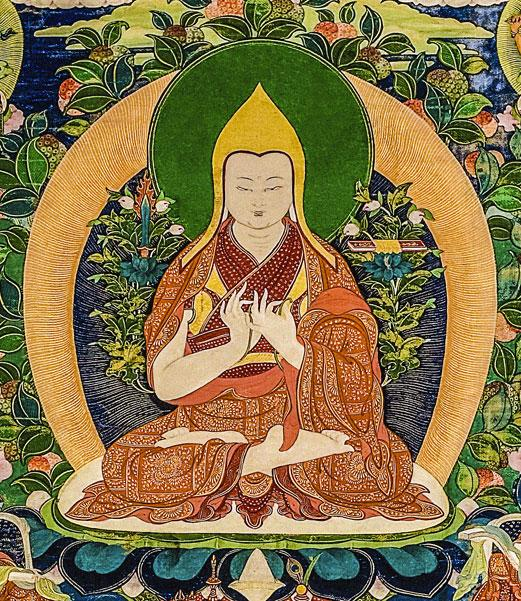Painting of Lama Tsongkhapa from Big Love: The Life and Teachings of Lama Yeshe. Photo courtesy of National Museum, Copenhagen.
