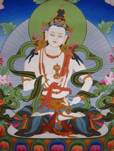Vajrasattva, painted by Nepali-Tibetan artists. Photo courtesy of FPMT.