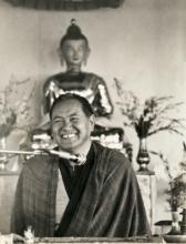 Lama Yeshe teaching at Chenrezig Institute, Australia,1979.