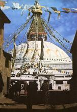Boudhanath Stupa, photo by Dennis Heslop taken in the 1960s.