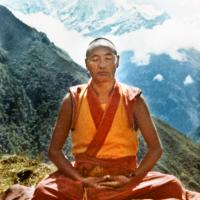 (11780_ud-2.psd) Lama Yeshe meditating at Lawudo Retreat Center, Nepal, 1972. Photo by Robbie Solick.