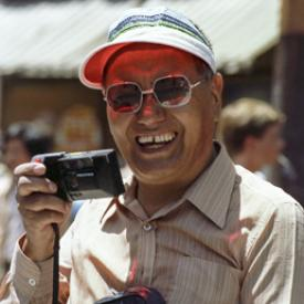 Lama Yeshe at the Gay Pride parade, San Francisco, California, 1983. Photo: Åge Delbanco