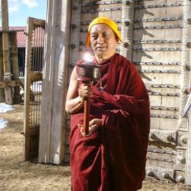 Lama Zopa Rinpoche in Taos, New Mexico, 1999. Photo: Lenny Foster.