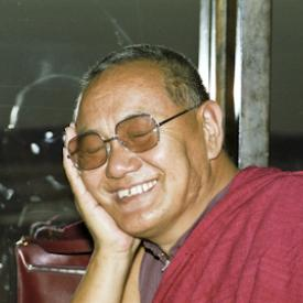 Lama Yeshe during a visit to Sweden, 1983. Photo: Holger Hjorth.