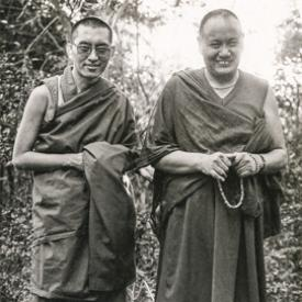 Lama Yeshe and Lama Zopa Rinpoche, Kopan Monastery, Nepal, 1978. Photo by Robin Bath.