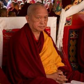 Lama Zopa Rinpoche, Kopan Monastery, Nepal, December 2015. Photo: Bill Kane.