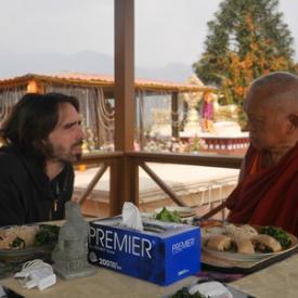 Tenzin Ösel Hita and Lama Zopa Rinpoche at Kopan Monastery, Nepal, February 2016. Photo: Holly Ansett.