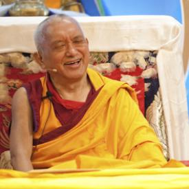 Lama Zopa Rinpoche at Maitripa College, Portland, USA, 2010. Photo: Marc Sakamoto.