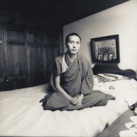 Lama Zopa Rinpoche, Indiana, 1974. Photo: Vicki Brown.