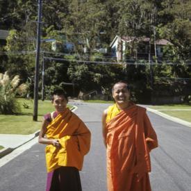 Lama Zopa Rinpoche and Lama Yeshe, Sydney, Australia, 1975.