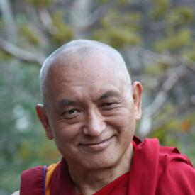 Lama Zopa Rinpoche near Ajanta caves, India, November 2008. Photo: Ven. Roger Kunsang.