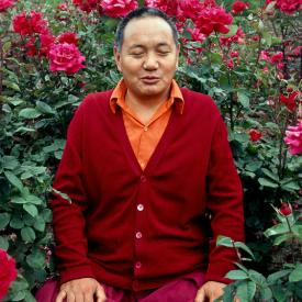 Lama Yeshe in Vancouver, Canada, 1978. Photo: Jon Landaw.
