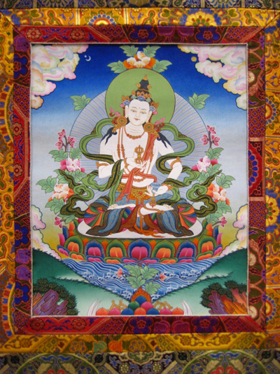 Vajrasattva, painted by Nepali-Tibetan artists, Photo courtesy of FPMT.